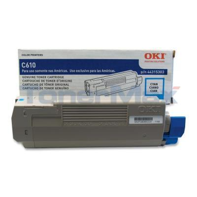OKI C610 TONER CARTRIDGE CYAN